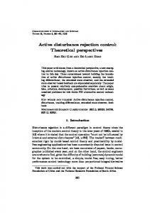 Active disturbance rejection control: Theoretical perspectives