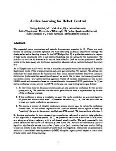 Active Learning for Robot Control