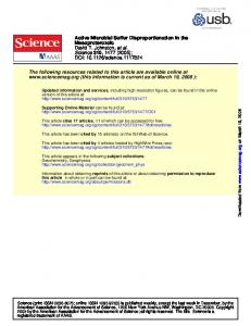 Active Microbial Sulfur Disproportionation in the
