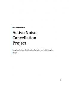 Active Noise Cancellation Project