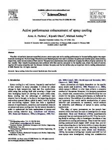 Active performance enhancement of spray cooling