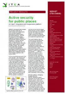 Active security for public places - Capvidia