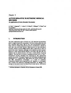 ACTIVE SEMANTIC ELECTRONIC MEDICAL RECORDS