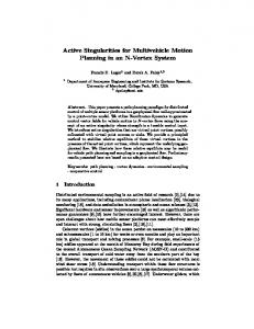 Active Singularities for Multivehicle Motion ... - Semantic Scholar
