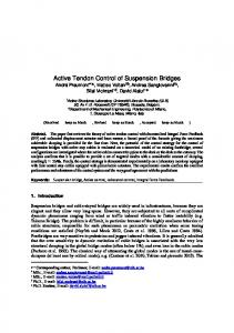 Active Tendon Control of Suspension Bridges - Actives Structures ...