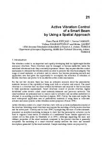 Active Vibration Control of a Smart Beam by Using