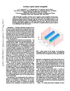 Actively coupled optical waveguides