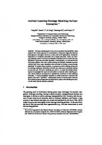 Actively Learning Ontology Matching via User ... - Semantic Scholar