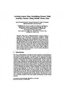 Activity-Aware Map: Identifying Human Daily Activity ... - Springer Link