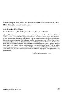 Activity budgets, food habits and habitat selection of the Porcupine ...