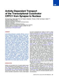 Activity-Dependent Transport of the Transcriptional Coactivator ...