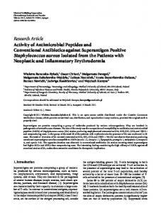 Activity of Antimicrobial Peptides and Conventional Antibiotics against