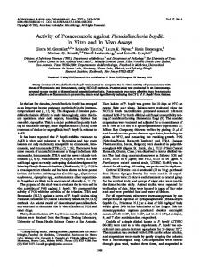 Activity of Posaconazole against Pseudallescheria boydii: In Vitro and ...