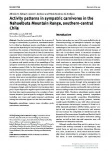Activity patterns in sympatric carnivores in the ...