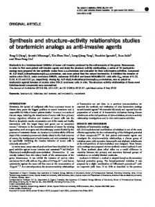 activity relationships studies of brartemicin analogs as anti ... - Nature