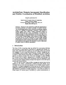 ActivityFlow: Towards Incremental Speci cation ... - Semantic Scholar