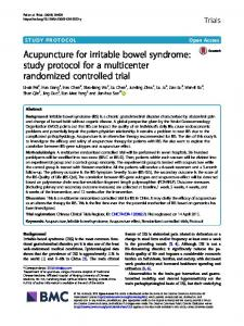 Acupuncture for irritable bowel syndrome: study