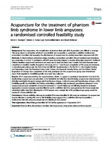 Acupuncture for the treatment of phantom limb syndrome in ... - Core