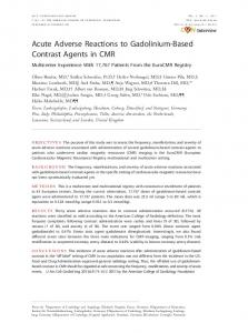 Acute Adverse Reactions to Gadolinium-Based Contrast Agents ... - Core