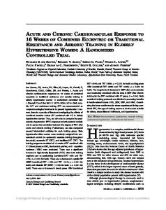 acute and chronic cardiovascular response to 16