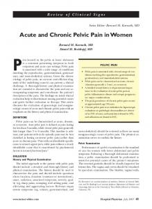 Acute and Chronic Pelvic Pain in Women - Turner White ...