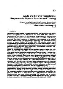Acute and Chronic Testosterone Responses to Physical Exercise and ...
