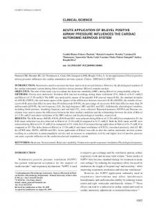 ACUTE APPLICATION OF BILEVEL POSITIVE AIRWAY PRESSURE ...
