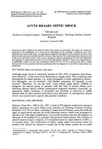 acute biliary septic shock - BioMedSearch