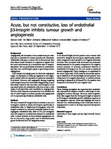 Acute, but not constitutive, loss of endothelial b3 ... - Springer Link