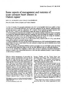 acute coronary heart disease in - Europe PMC