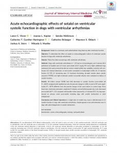 Acute echocardiographic effects of sotalol on ... - Wiley Online Library