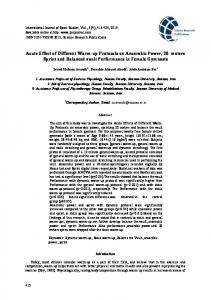 Acute Effect of Different Warm-up Protocols on