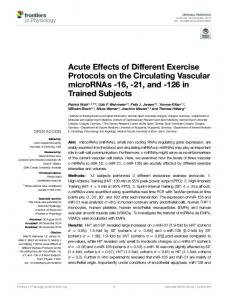 Acute Effects of Different Exercise Protocols on the ... - Semantic Scholar
