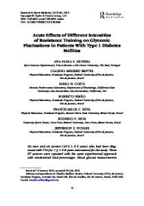 Acute Effects of Different Intensities of Resistance Training on ...