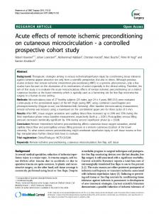 Acute effects of remote ischemic preconditioning on ... - BioMedSearch
