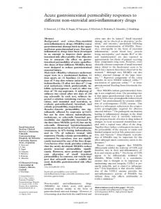 Acute gastrointestinal permeability responses to ... - Europe PMC