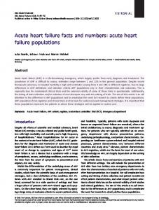 acute heart failure populations - Wiley Online Library