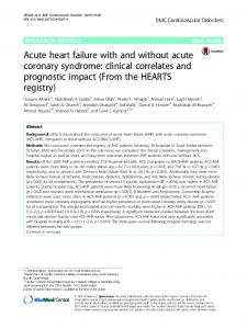 Acute heart failure with and without acute coronary