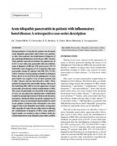 Acute idiopathic pancreatitis in patients with inflammatory bowel disease