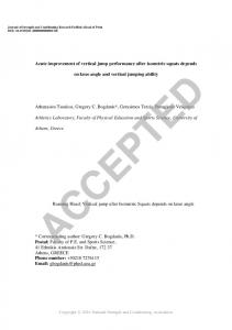 Acute improvement of vertical jump performance after ...