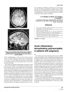 Acute inflammatory demyelinating polyneuropathy in patients with ...