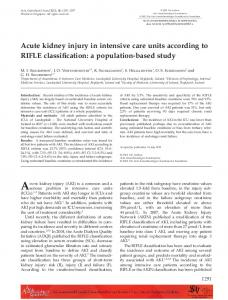 Acute kidney injury in intensive care units ... - Wiley Online Library