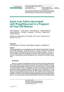 Acute Liver Failure Associated with Propylthiouracil in a Pregnant 26 ...