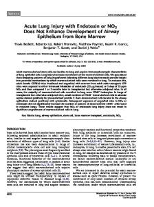 Acute Lung Injury with Endotoxin or NO2 Does Not Enhance ...