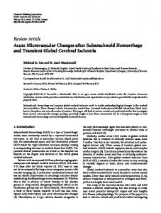 Acute Microvascular Changes after Subarachnoid Hemorrhage and ...