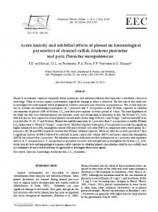 Acute toxicity and sublethal effects of phenol on ... - Univali
