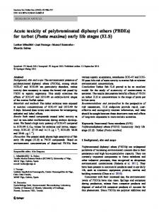 Acute toxicity of polybrominated diphenyl ethers (PBDEs) - Springer Link