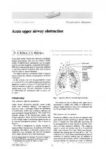 Acute upper airway obstruction - Science Direct