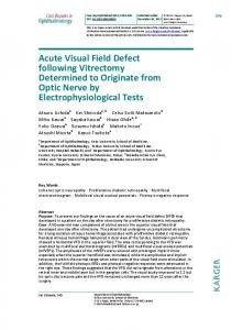 Acute Visual Field Defect following Vitrectomy ... - Karger Publishers