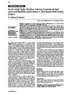 Acute whole body vibration training increases vertical jump and ...